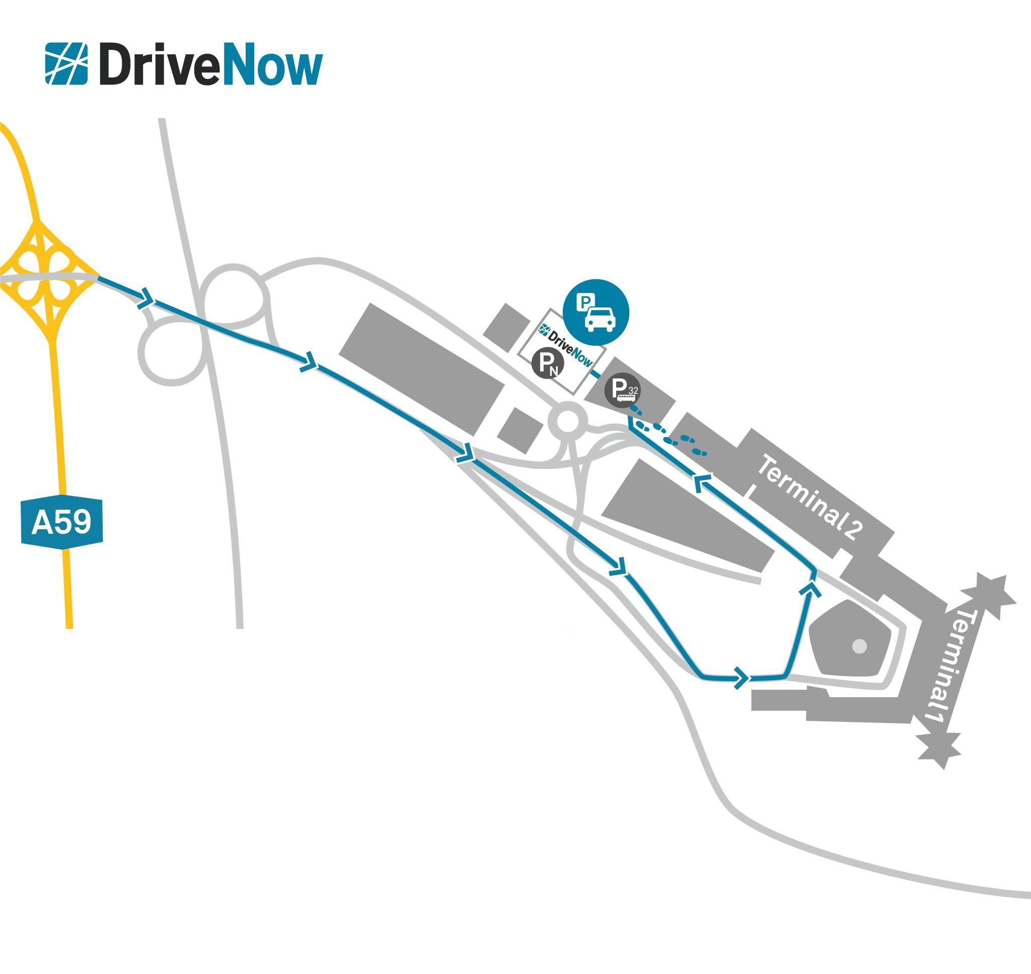 Köln Flughafen Car Sharing DriveNow