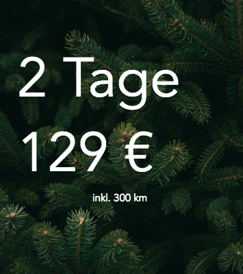 DriveNow Package christmas special 2 days