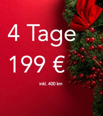 DriveNow Package christmas special 4 days