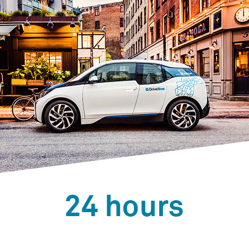 DriveNow 24 hours hourly