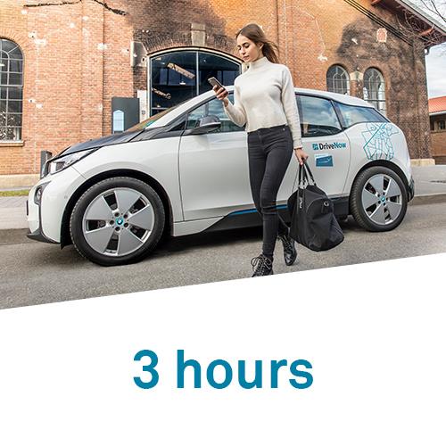 DriveNow 3 hours hourly