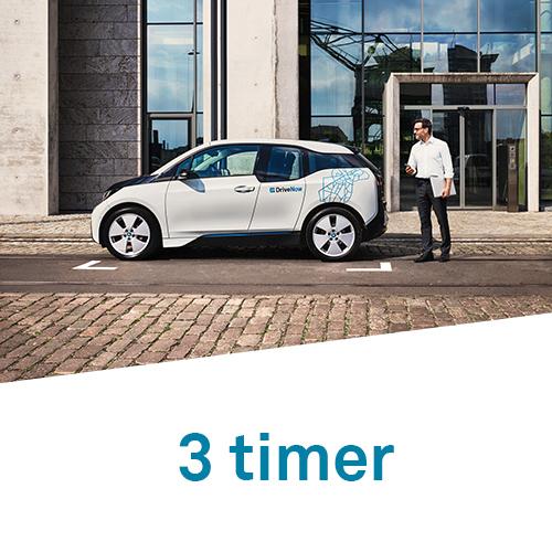 DriveNow timepakker 3 timer