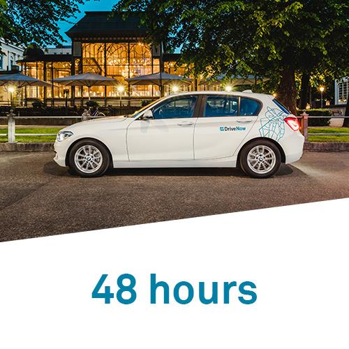 DriveNow 48 hours hourly