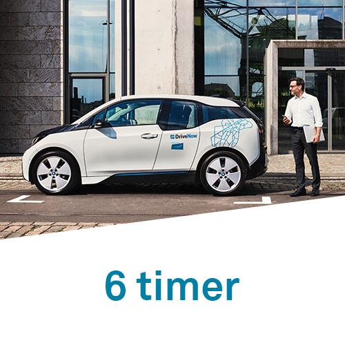 DriveNow timepakker 6 timer