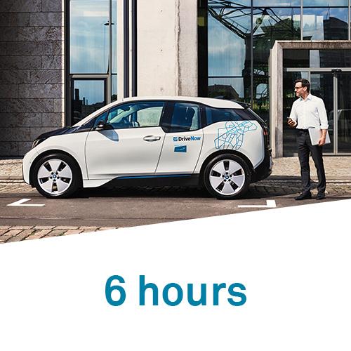 DriveNow 6 hours hourly
