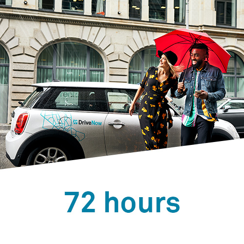 DriveNow 72 hours hourly