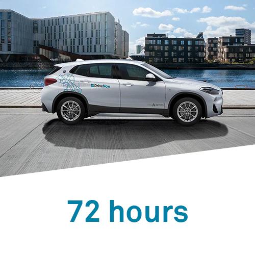DriveNow 72 hours hourly