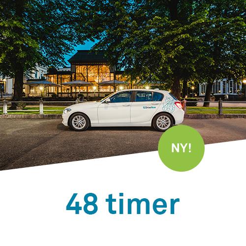 DriveNow timepakker 48 timer