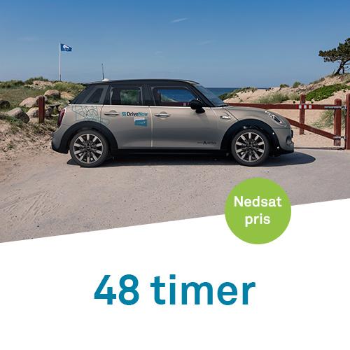 drivenow timepakke 48 timer