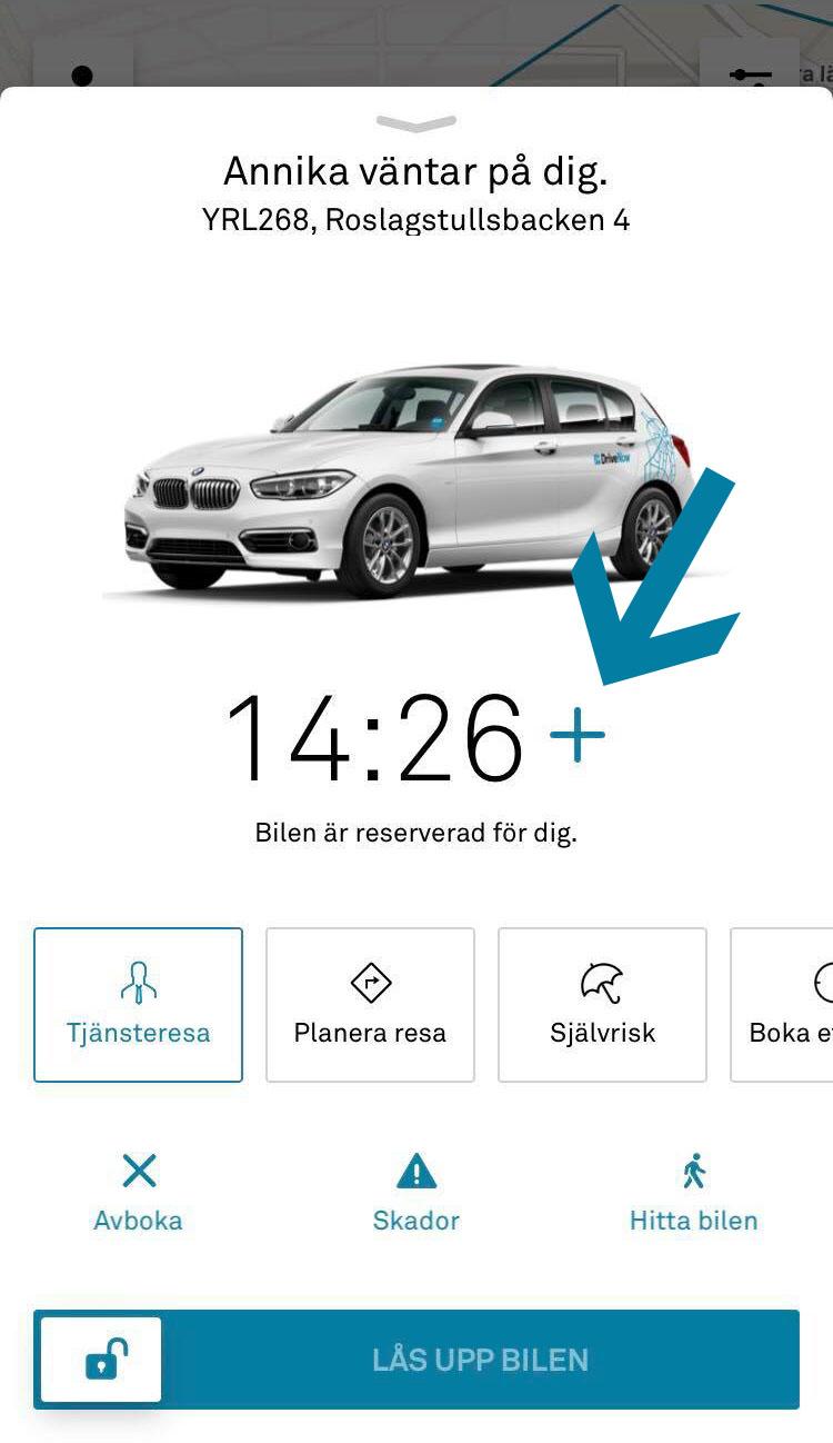 DriveNow reservera en bil gratis över natten