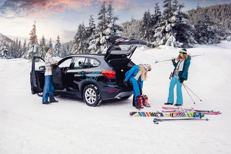 DriveNow:lla hiihtämään tai laskettelemaan