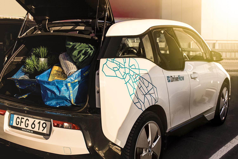 DriveNow IKEA BMWi3 shopping