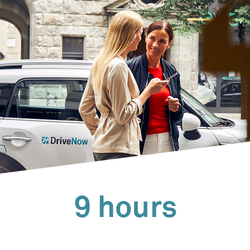 9 hours package DriveNow