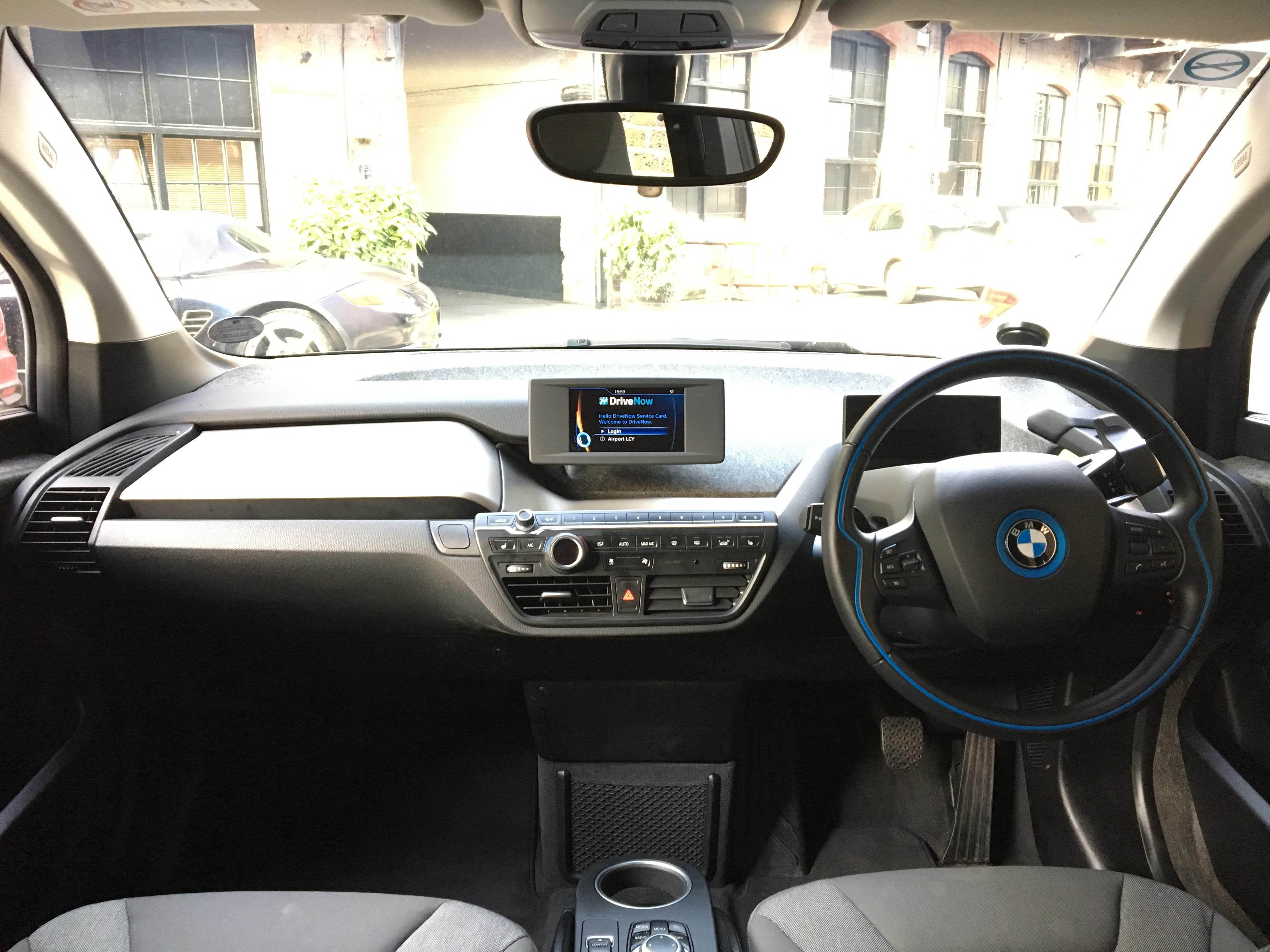 Inside a DriveNow BMW i3