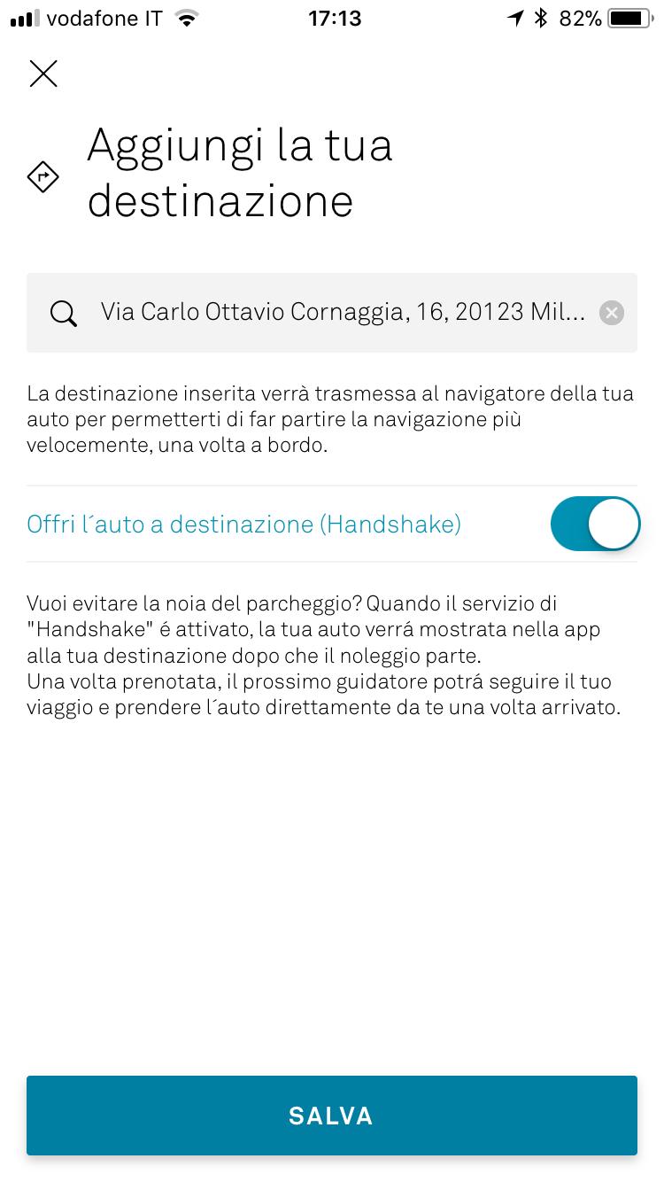 screenshot app con funzione handshake