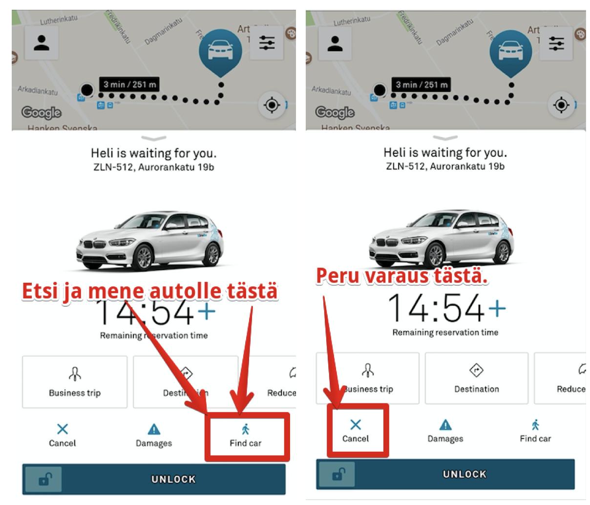 Navigoi DriveNow-autollesi
