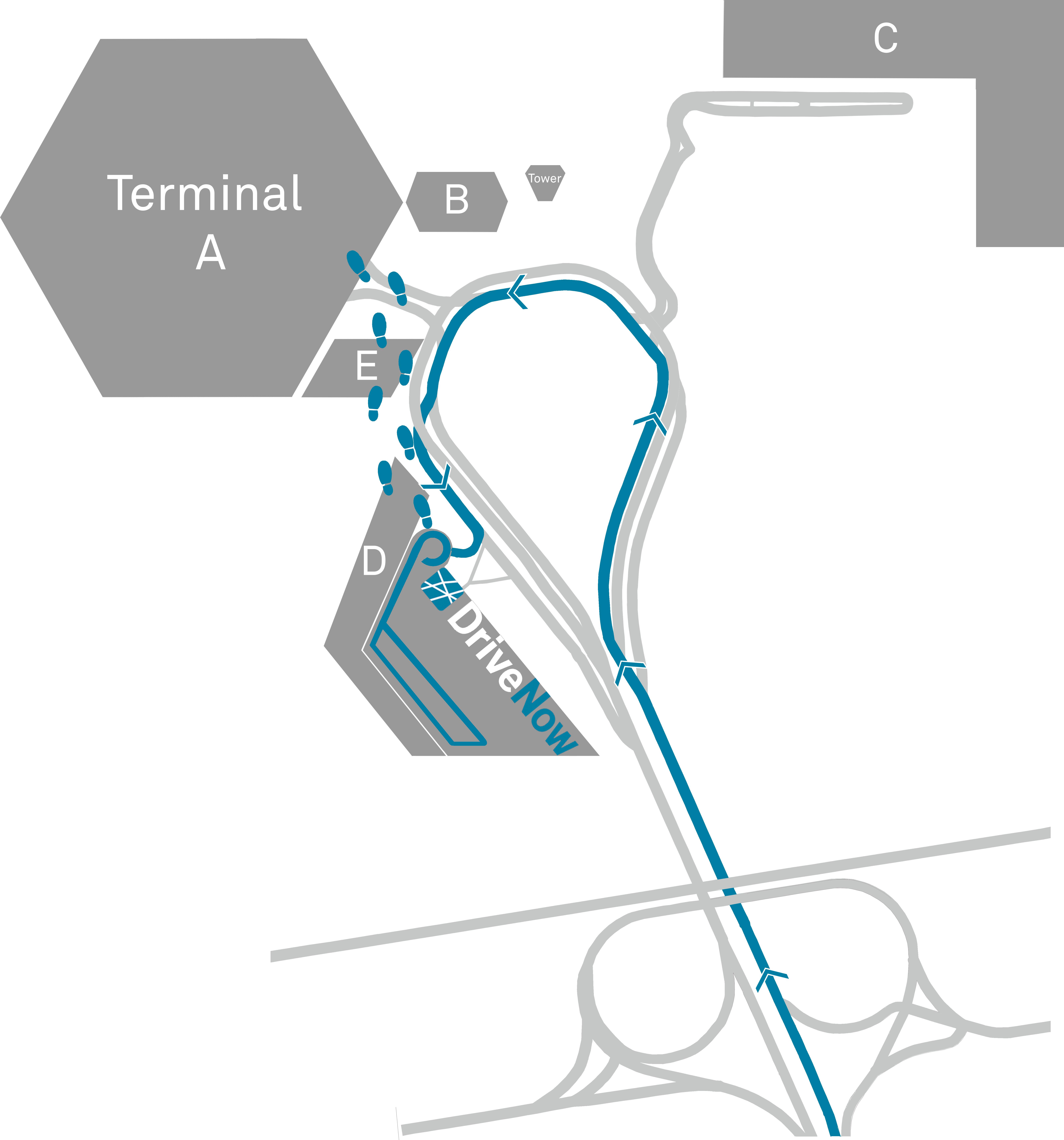 Carsharing Berlin Tegel Flughafen Weg