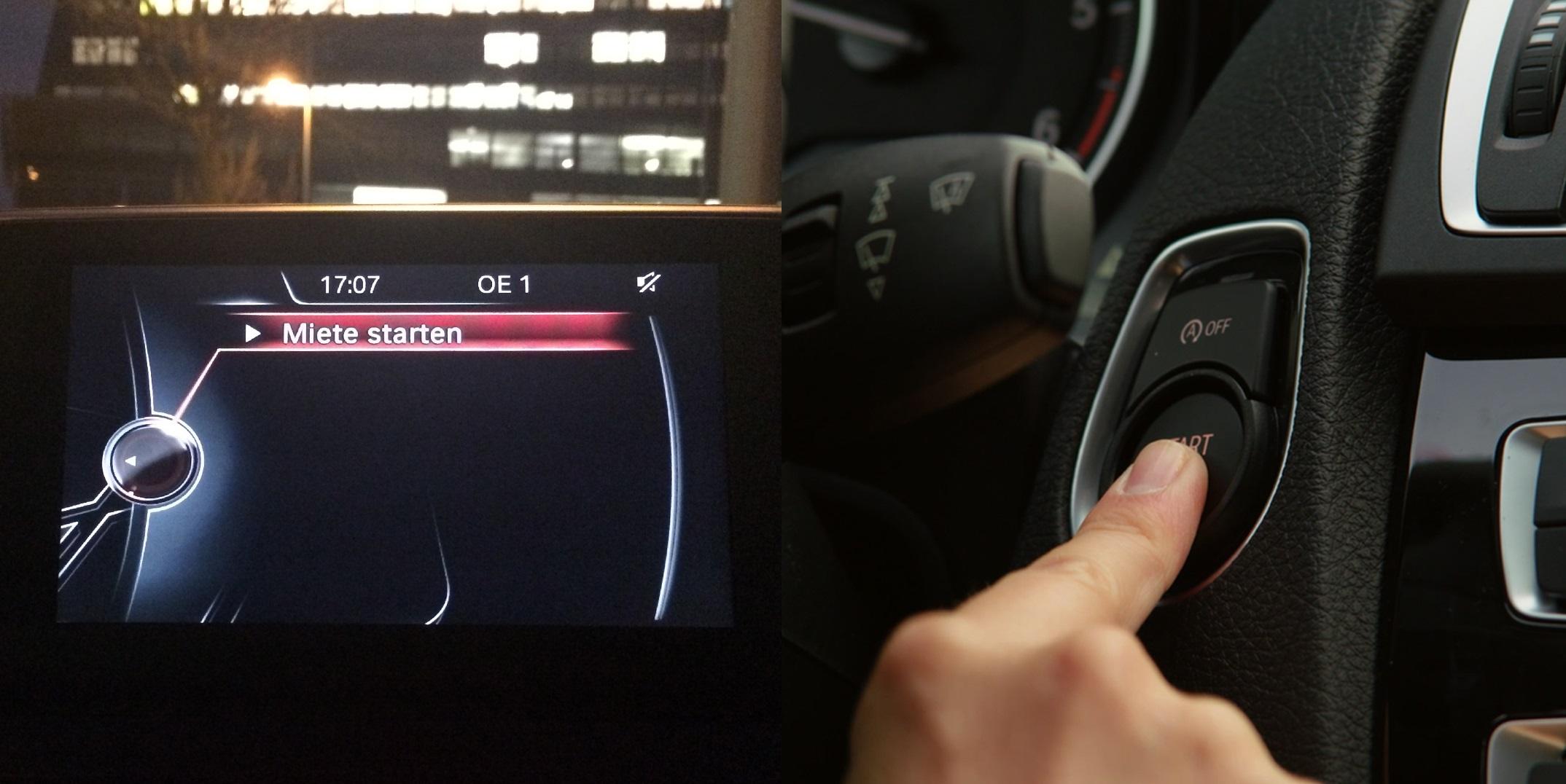 DriveNow Carsharing Miete Beginnen
