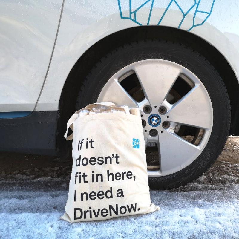 DriveNow-kasseja.