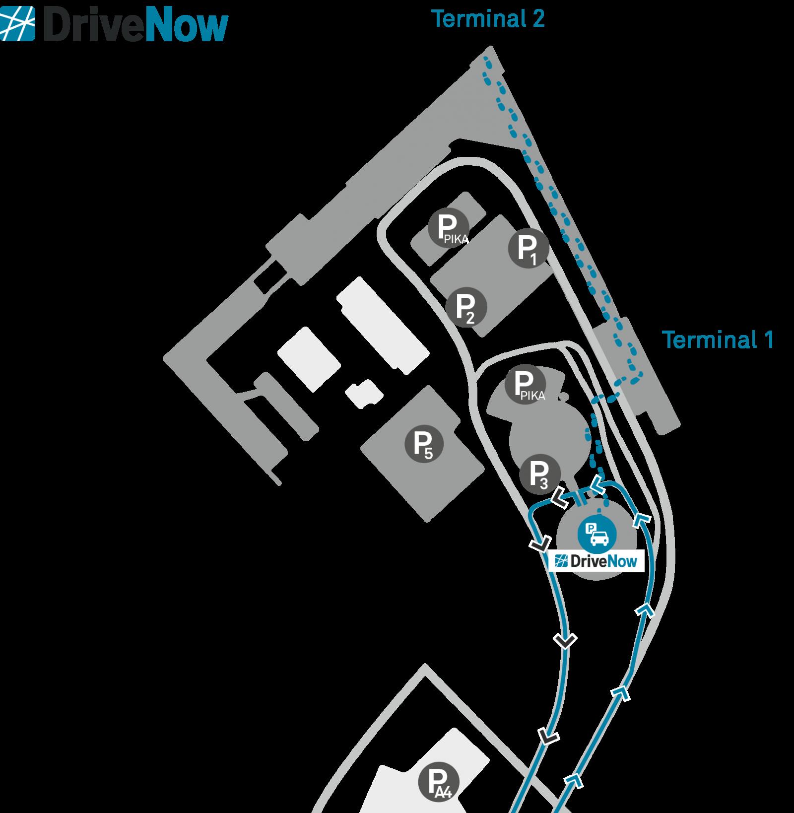 DriveNow_car_sharing_helsinki_airport_map