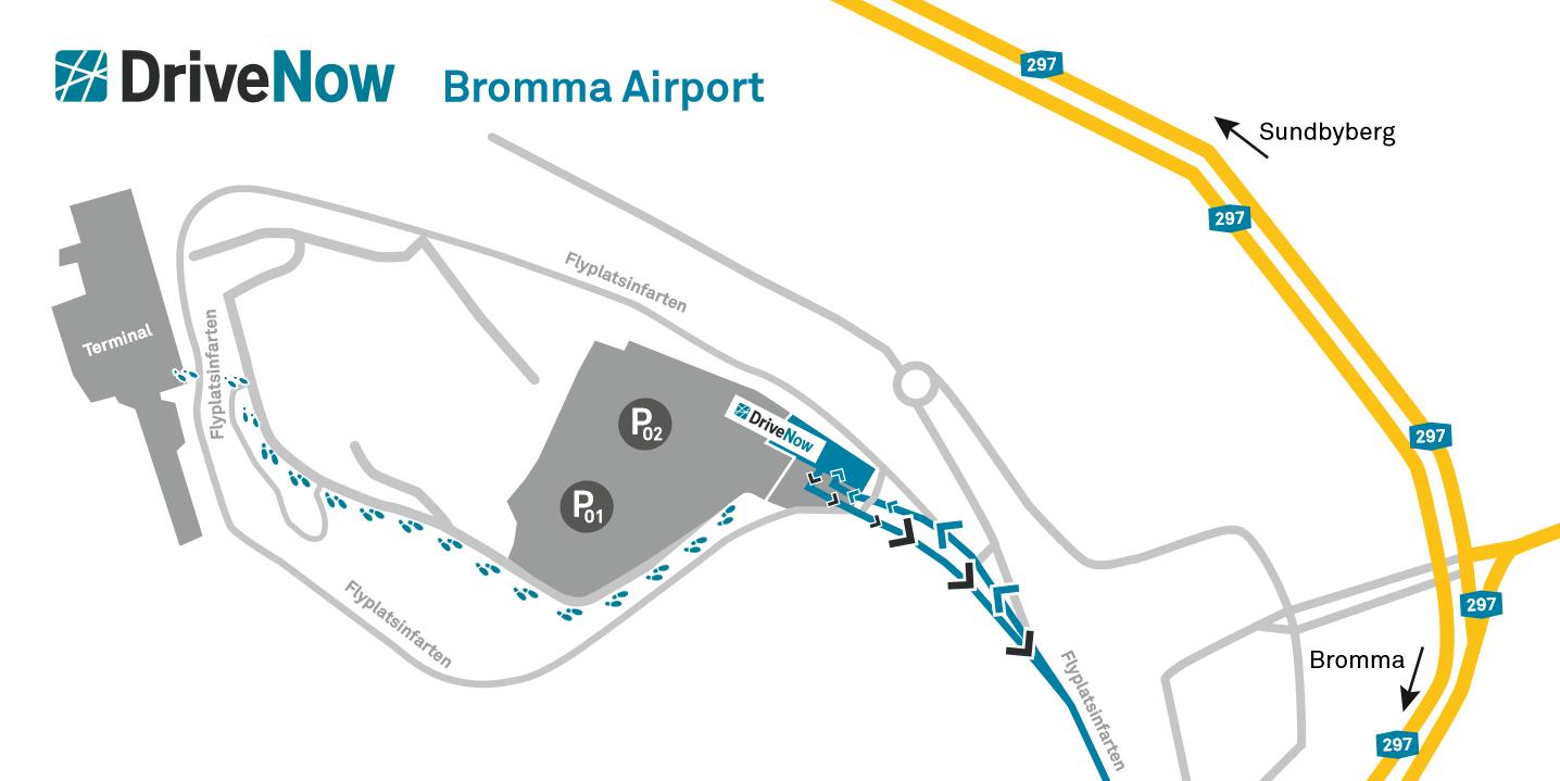 Car Sharing DriveNow Bromma Airport SV