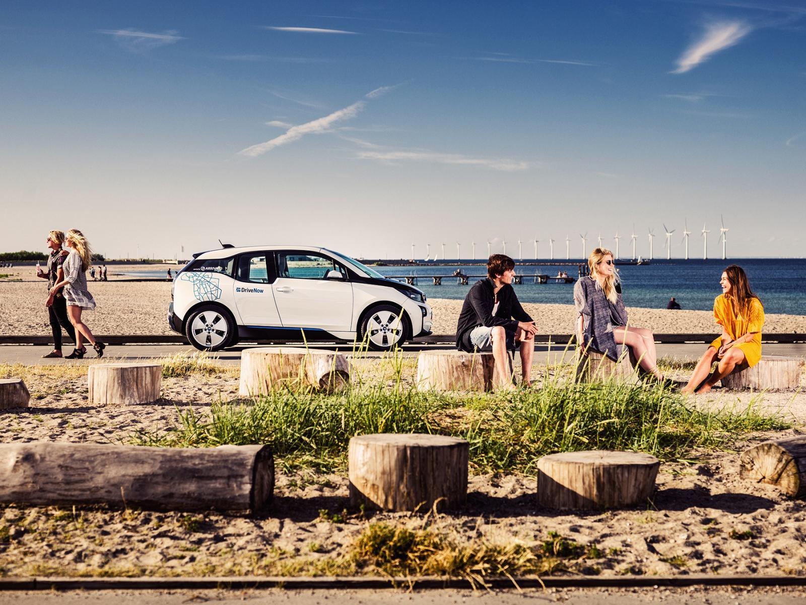 DriveNow_Copenhagen_BMW_i3_Beach