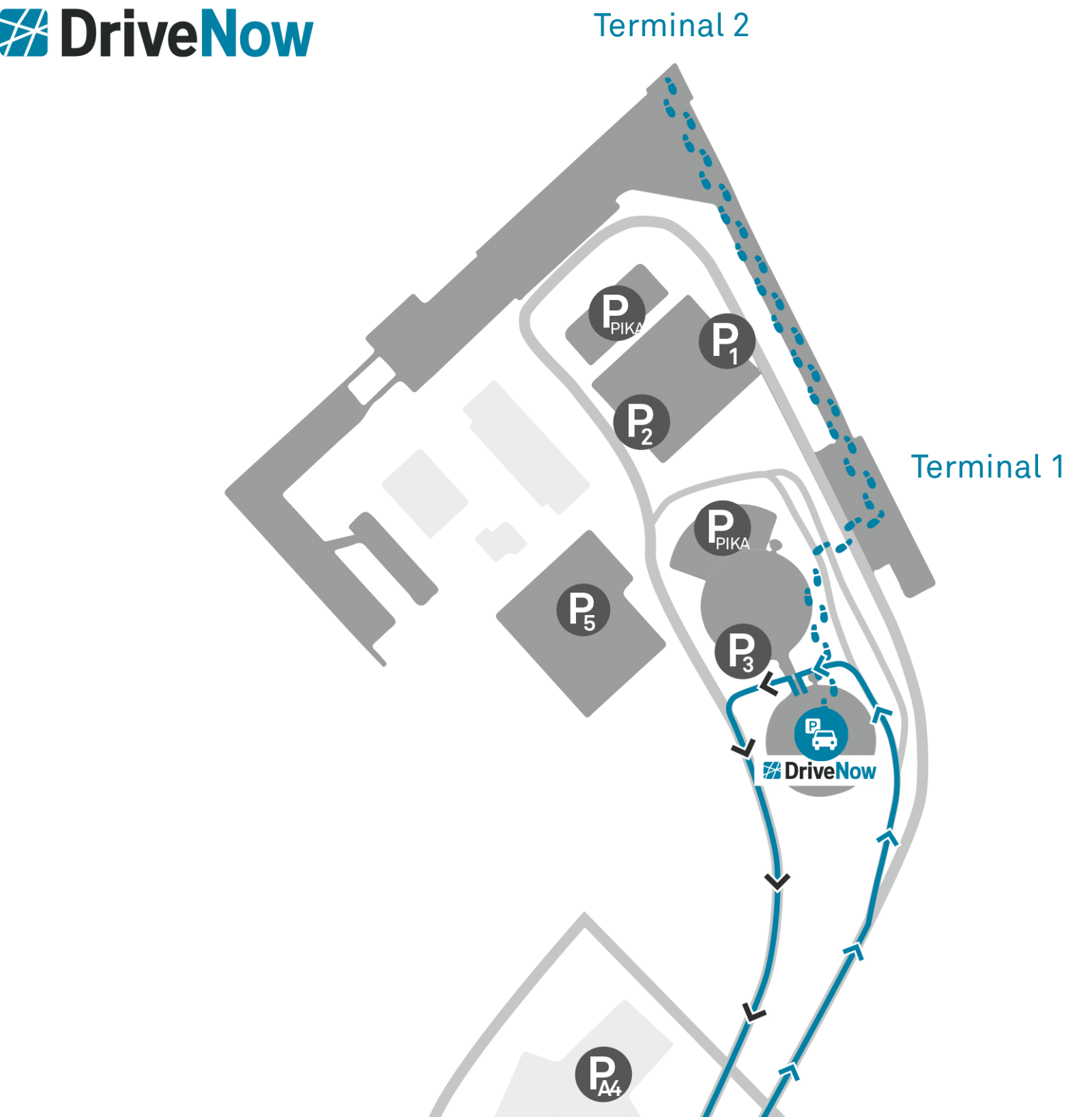 DriveNow_car_sharing_helsinki_airport_map