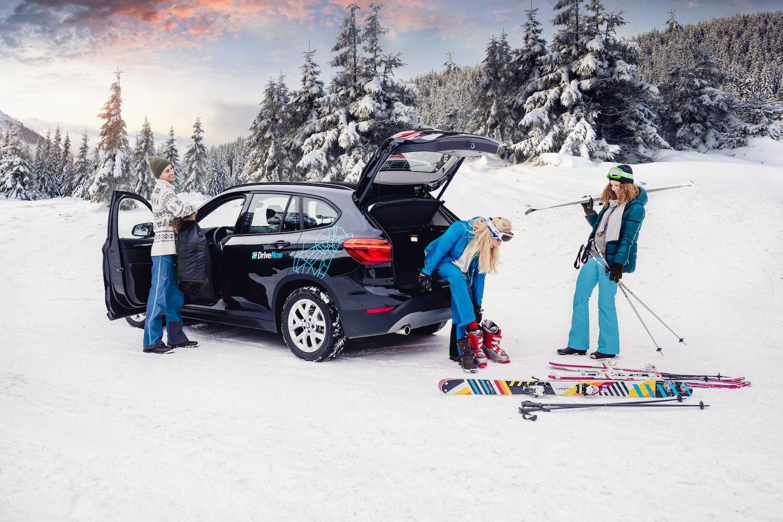 DriveNow_Munich_BMW_X1_Winter_Snow_Skiing